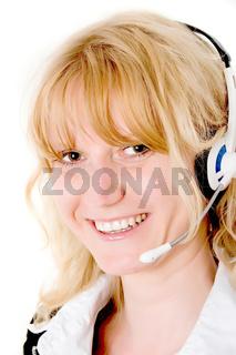 Kundenfreundliches Lächeln