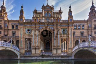 The Plaza De Espana Building Seville Spain