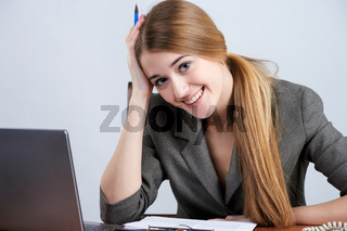 Beautiful woman at the office