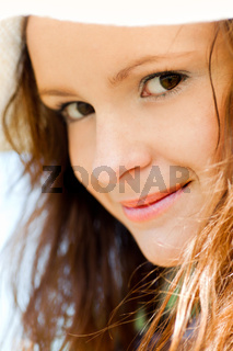 Smiling teen portrait closeup