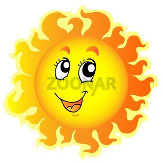 Cute happy Sun - color illustration.