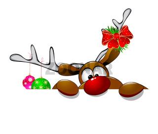 Cute Christmas reindeer Rudolph 4