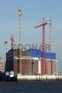 Baustelle der Elbphilharmonie in der Hamburger Hafencity