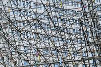 scaffolding construction concept - abstract scaffolding framework