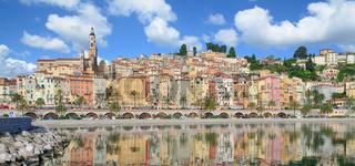 Menton an der Franzoesischen Riviera,Cote d`Azur,Frankreich
