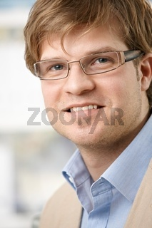 Closeup portrait of young businessman