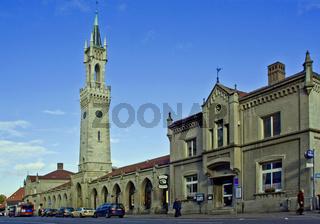 Bahnhof mit Turm  Konstanz