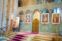 Svetitskhoveli cathedral altar. Mtskheta, Georgia