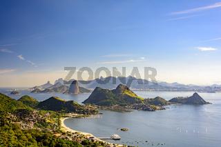 Guanabara bay and hills