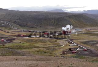 Geothermalkraftwerk Krafla in Island