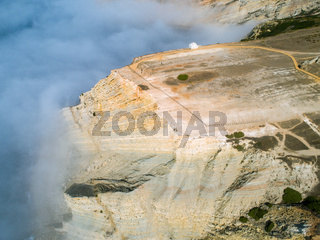 Aerial View High Fog on the Precipice Temple Church