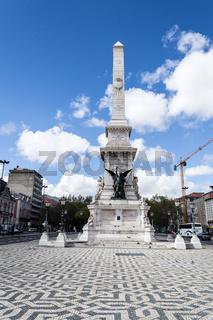 Obelik at Restauradores square in Lisbon (Portugal)