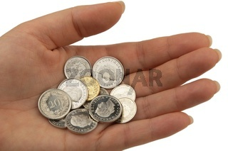Schweizer Franken, Rappen Münzen nah