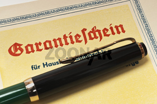 Garantieschein | certificate of guarantee