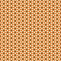 seamless texture of repeating little red flowers and ornaments