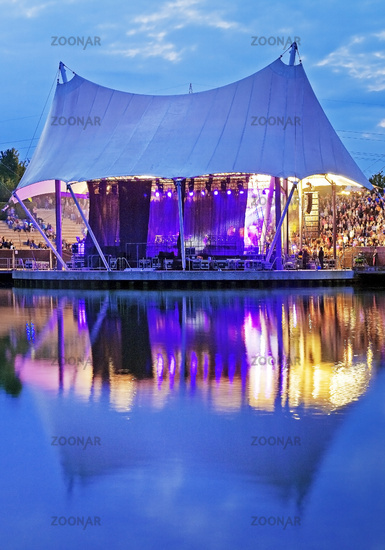 event at the amphitheater of Nordsternpark, Rhein-Herne-Kanal, Gelsenkirchen, Germany