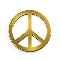 Peace Sign. 3D Render Illustration