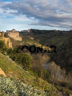 Landschaft am Fluss Tajo, Toledo, Spanien