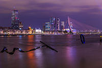 Rotterdam cityscape and modern sculpture - Netherlands