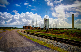 Lounchers inside Guiana Space Centre, Kourou, French Guiana