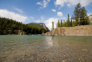 The Bow River flowing through Banff National Park