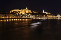 Danube and Buda Castle at night, Hungary, Budapest