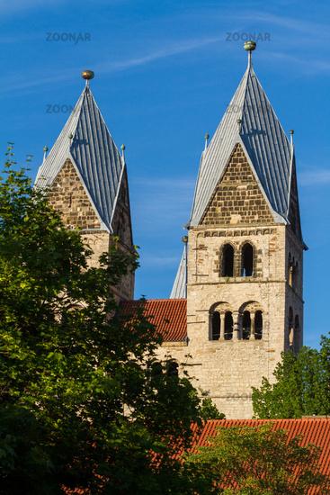 Domplatz Halberstadt View to the Liebfrauenkirche