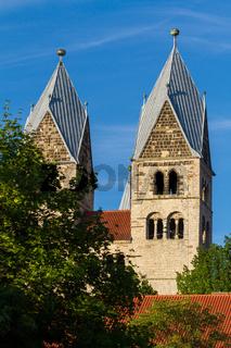 Domplatz Halberstadt Blick auf die Liebfrauenkirche