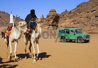 Wüstenverkehr in der Sahara