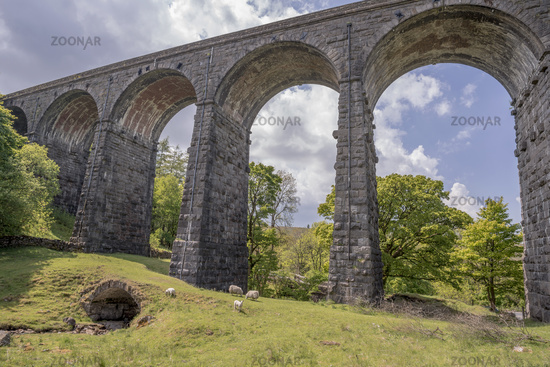 Dent Head viaduct set in the rural West Riding of Yorkshire