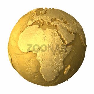 Gold Globe - Africa