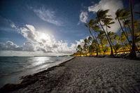 Caribbean Beach at night