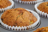 Closeup of a banana muffin