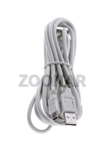 Computer cable isolated on white