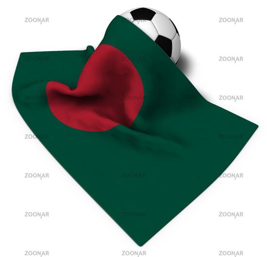 football and flag of bangladesh - 3d illustration