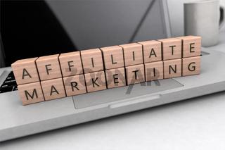 Affiliate Marketing text concept