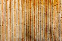 Wooden wall made of pine wood vertically