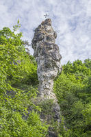 Rock pin in the Danube valley