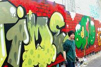 Graffiti painter portrait