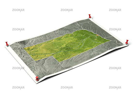 Nebraska on unfolded map sheet.