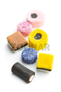 mixed liquorice candies