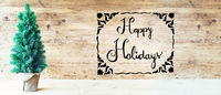 Calligraphy, Happy Holidays, Christmas Tree, Rustic Background
