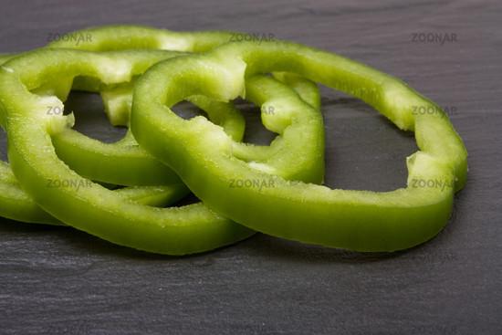 Sliced Green Pepper