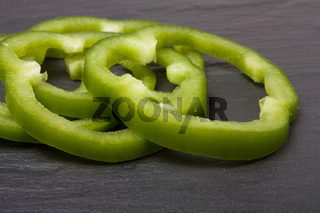 Sliced Green Pepper