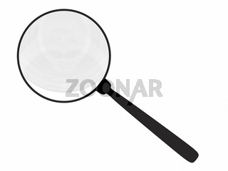 Magnifying glass isolated on white. High resolution 3D render