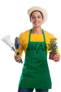 Gärtner Garten Gartenarbeit Beruf Blume Freisteller