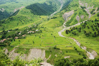 Mountain slope of the Caucasus