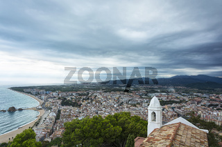 Overview of the central part of the city of Blanes (Spain, Catalonia)