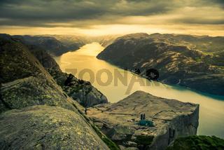Mountainous range in Norway