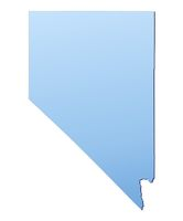 Nevada(USA) map